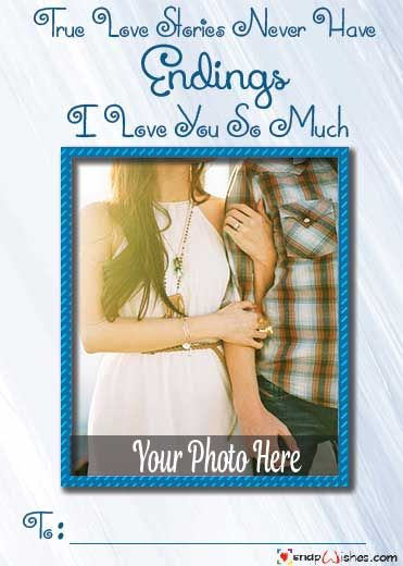 Create Love Photo Card Maker With Name In 2020 With Images