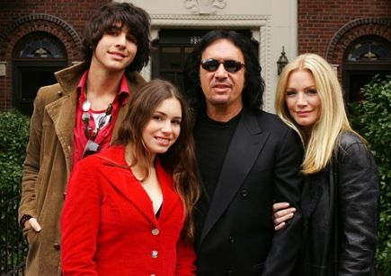 Gene Simmons Family. Love their reality show! Also love that Gene is a great  family man and Dad.