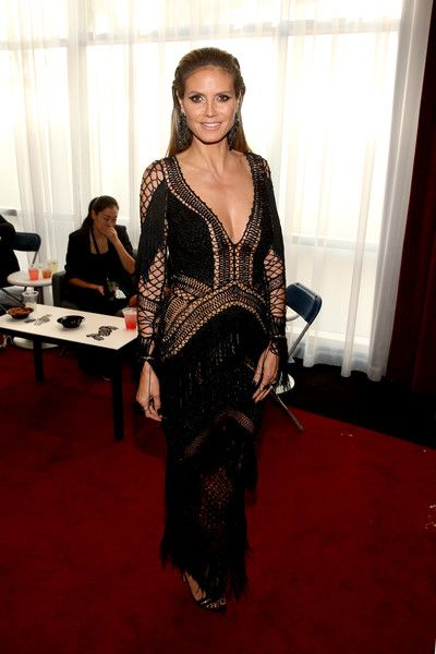 Heidi Klum attends the 2018 American Music Awards VIP Lounge, presented by Aviation American Gin, at Microsoft Theater Gold Ballroom.