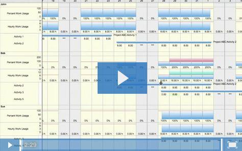 Project Management Software FastTrack Schedule - Managing workloads
