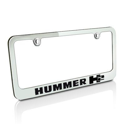 Hummer H2 Chrome Metal License Plate Frame
