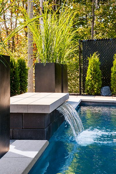 Raffinato Smooth Cap Pool Coping And Wall Caps Techo Bloc Pool Coping Backyard Pool Landscaping Modern Pools