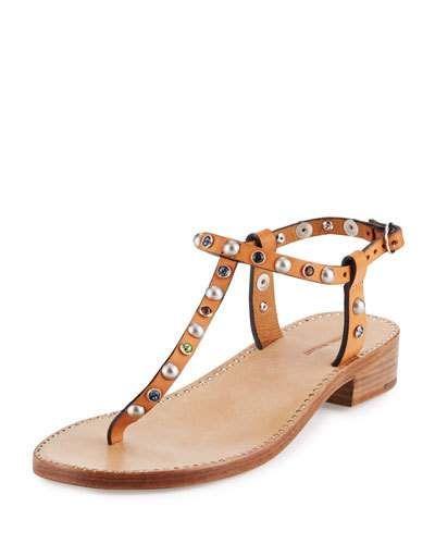 7fc9e2fd979e8 Aelith Studded Thong Sandal