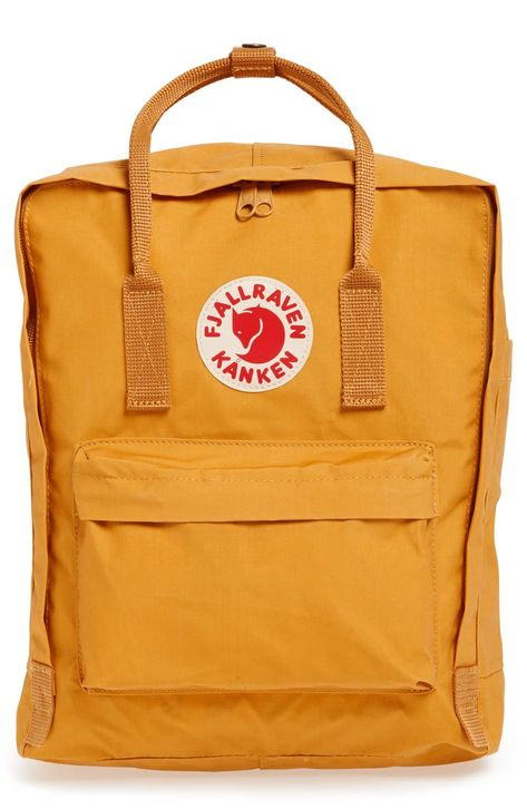 Fjällräven Kånken Water Resistant Backpack - Yellow