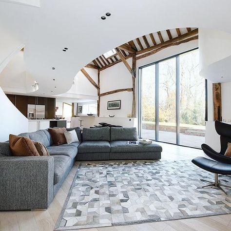 Barn Conversion Perfection Homeexposure Barn Conversion Style Boconcept Design Interior Impact Granddesign Stairc Boconcept Curved Couch Room
