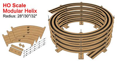 New 30 Radius Helix For 28 30 32 Tracks Best For Ho Scale Ho Scale Model Trains Ho Scale Model Trains
