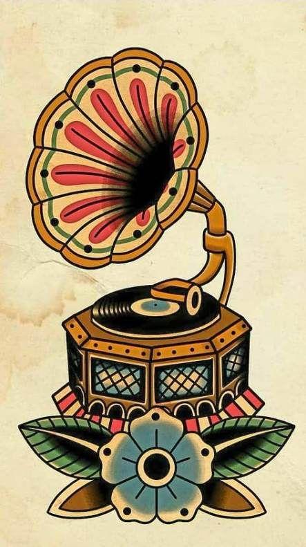 Tattoo Old School Music Beautiful 68+ Ideas For 2019