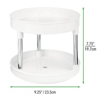 2 Tier Lazy Susan Turntable For Kid Nursery Storage In 2020 Lazy Susan Bathroom Storage Inside Kitchen Cabinets