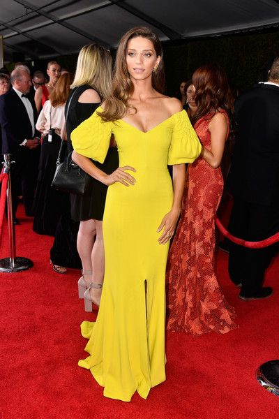 Actor Angela Sarafyan attends the 69th Annual Primetime Emmy Awards at Microsoft Theater.