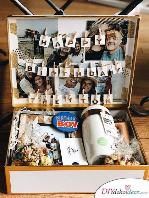 Geschenkideen für den Bruder – Eine Geburtstagsschachtel mit Geschenken