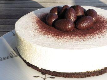 Paskekage Med Citronfromage Og Chokoladebund Opskrifter Dessertopskrifter Cheesecake Opskrifter Og Mad