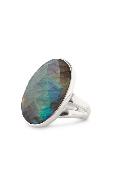 Stella and Dot Odyssey ring- labradorite Genuine labradorite ring from Stella and Dot! Faceted stone reflects several colors, so pretty. Adjustable size, used condition. Looks good on but shows wear.