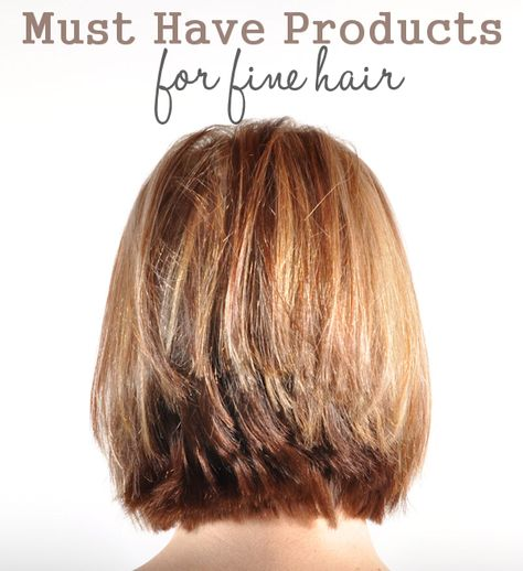 Must Have Products for Fine Hair