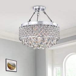 Darcy 4 Light 15 Chandelier Style Drum Semi Flush Mount Warehouse Of Tiffany Ceiling Lights Ceiling Fan With Remote