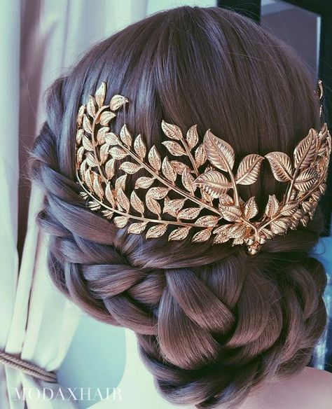 Wedding hairstyles for curly hair. Wedding hairstyles for long hair. Wedding hairstyles for small hair. Pretty Hairstyles, Braided Hairstyles, Wedding Hairstyles, Braided Updo, Wedding Updo, Perfect Hairstyle, Greek Hairstyles, Updo Hairstyle, Hairstyle Ideas