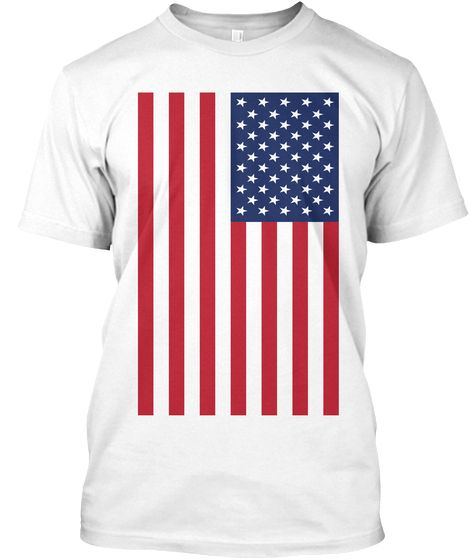 Usa Flag Tee White T Shirt Front Just For You