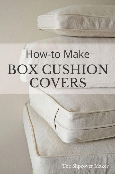 DIY Box Cushion Cover Tutorials My favorite DIY tutorials for making your own box cushion covers for your sofa and armchairs. Diy Cushion Covers, Outdoor Cushion Covers, Box Cushion, Pillow Covers, Diy Sofa Cover, Cushion Cover Pattern, Cushion Fabric, Do It Yourself Furniture, Do It Yourself Home