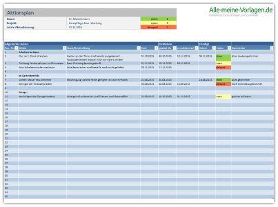 Der Aktionsplan Todo Liste Ist Eine Kostenlose Excel Vorlage Uber Die Aufgaben Tatigkeiten Und Arbeiten Leicht Verfol Excel Vorlage Projektmanagement Planer