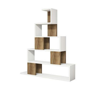 Ada Home Decor Bremen White And Walnut Modern Bookcase Mnrb3081 The Home Depot Modern Bookcase Home Decor Eco Furniture