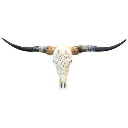 Skull Decoratie Longhorn Skull Gegraveerd Wi In 2020 Schedel Decoratie En Longhorns