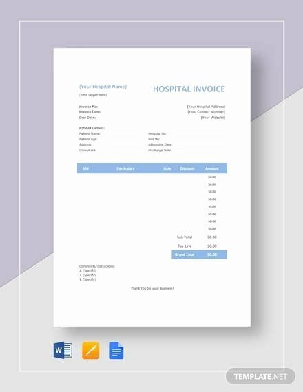 Medical Records Invoice Template Best Of Free 16 Sample Medical Invoice Templates In Google Docs Invoice Template Bill Template Memorandum Template