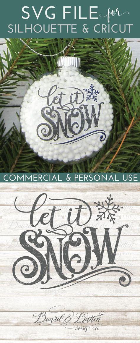 Vintage Sign Label Let It Snow SVG File