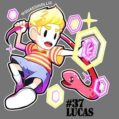 Lucas & Rope Snake  | Games art | Super smash bros, Super