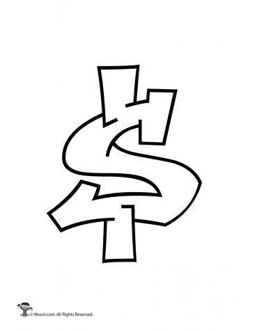 Graffiti Dollar Sign Woo Jr Kids Activities Graffiti Lettering Alphabet Graffiti Words Graffiti Lettering