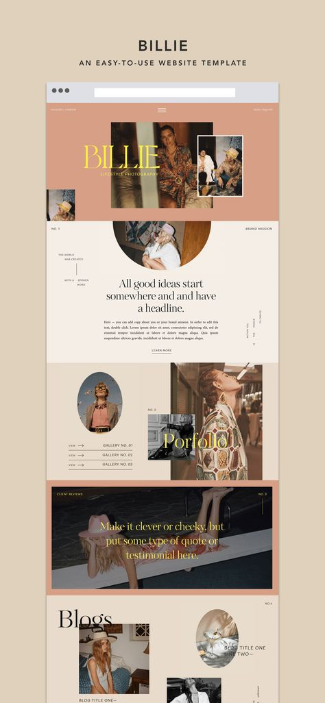WEBSITE TEMPLATE by Lindsey Eryn of Third Story Apartment