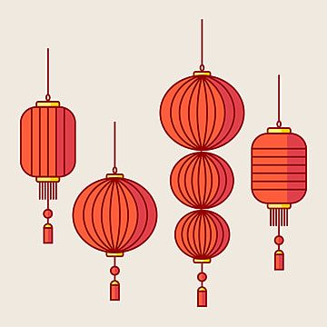 Chinese Lantern Vector Chinese China Golden Png And Vector With Transparent Background For Free Download Chinese Lanterns Year Of The Cow Chinese New Year Decorations