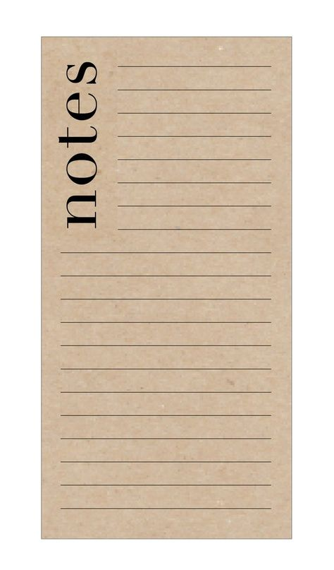 Chic Notes Notepad on Kraft Paper