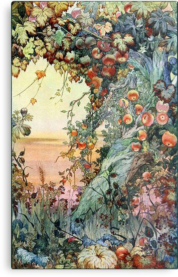 The Fruits of the Earth - Edward J. Detmold Metal Print by forgottenbeauty