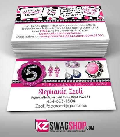 Perfectly Posh Business Cards Style 5 Jewelry Business Card Jewelry Display Cards Handmade Jewelry Business