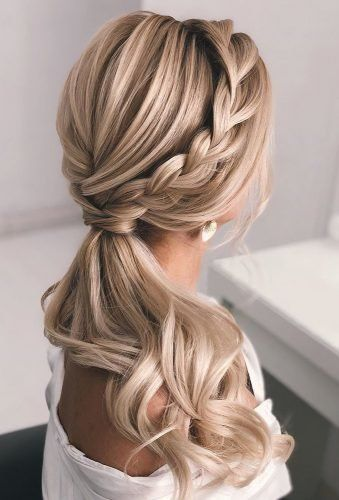 37 Modern Pony Tail Hairstyles Ideas For Wedding Wedding Forward Tail Hairstyle Hair Styles Wedding Ponytail Hairstyles