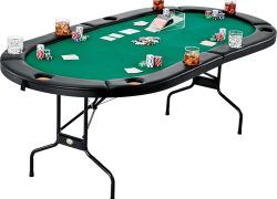 New 8 Person 6 Ft Folding Poker Table Cards Game Table Pkt202s Uncle Wiener S Wholesale In 2020 Folding Poker Table Poker Table Card Game Table