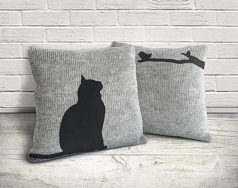 Katzenkissen Kissenbezuge Gestrickte Kissen