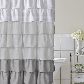 Whimsy Girl Pretty Things Ruffle Shower Curtains Bath Shower