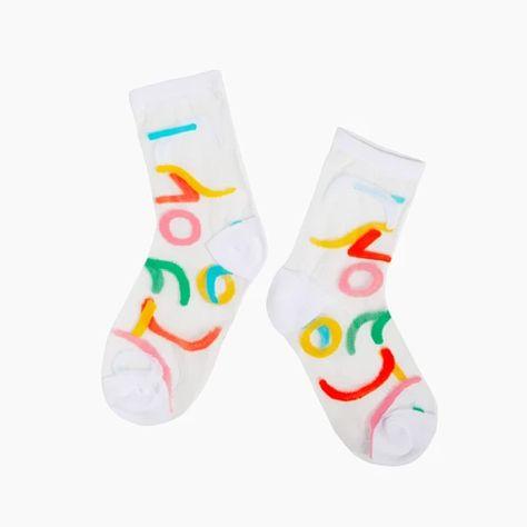 Sheer Socks in Outline – Poketo