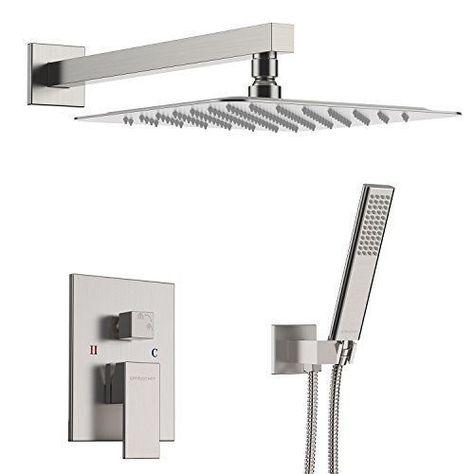 Embather Shower System Brushed Nickel Faucet Set For