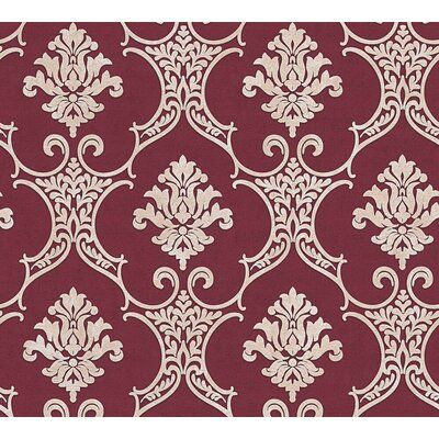 House Of Hampton Lanning Baroque Modern 33 L X 21 W Damask Wallpaper Roll Wayfair Damask Wallpaper Wallpaper Roll Damask Pattern Design