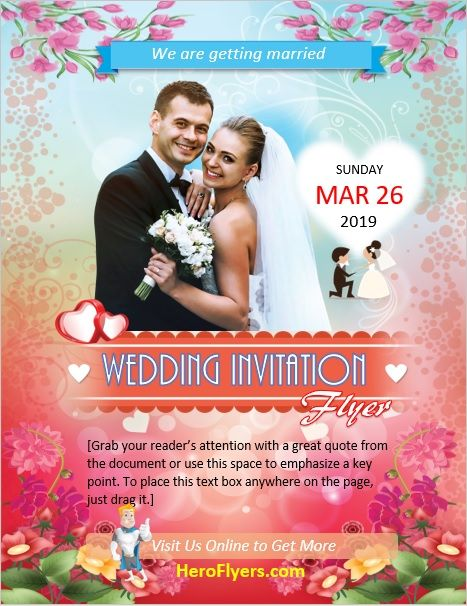 Wedding Invitation Flyer Template Designs And Templates Flyer