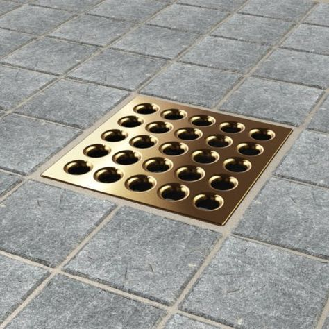 Oil Rubbed Bronze Square Floor Waste Grates Bathroom Shower Drain Floor Drain