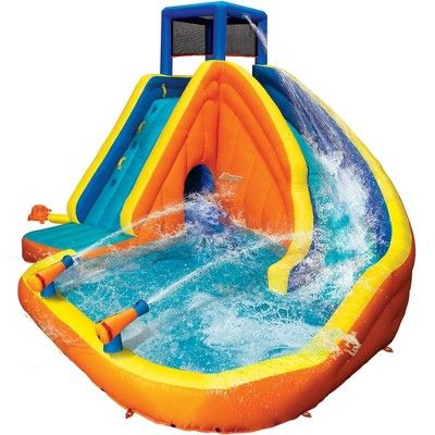 Get Free Shipping From Target Read Reviews And Buy Banzai 90494 Sidewinder Falls Inflatable Water Sl Inflatable Water Park Inflatable Water Slide Water Slides