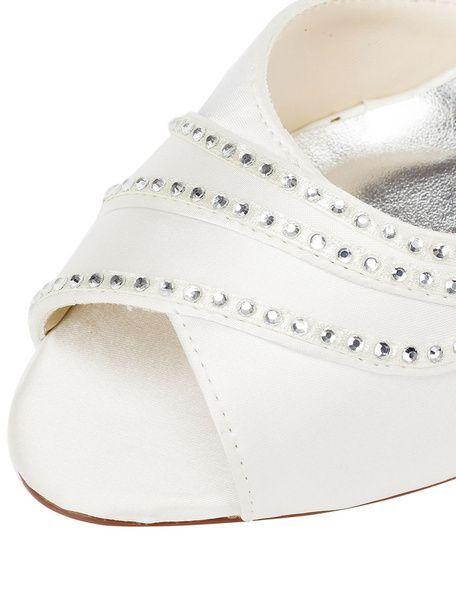 Scarpe Sposa Milanoo.Milanoo Ivory High Heel Wedding Shoes Peep Slip On Sca