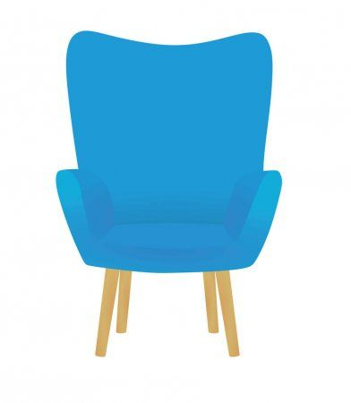 Blue Chair Vector Illustration Stock Vector Sponsored Chair Blue Vector Stock Ad In 2020 Blue Chair Vector Illustration Illustration