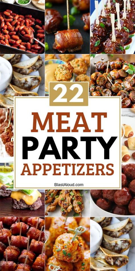22 Meat appetizers that are perfect for your next party. Easy party snacks that make the best finger food to feed a crowd 22 Meat appetizers that are perfect for your next party. Easy party snacks that make the best finger food to feed a crowd Heavy Appetizers, Appetizers For A Crowd, Finger Food Appetizers, Holiday Appetizers, Food For A Crowd, Yummy Appetizers, Appetizer Recipes, Easy Finger Food, Easy Party Appetizers
