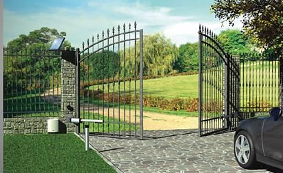 Gate Opener Repair Midlothian Mansfield Texas Wrought Iron Solar In 2020 Iron Fence Automatic Gate Wrought Iron Fences