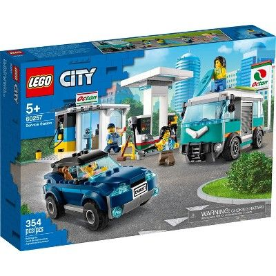 Lego City Service Station Building Set 60257 In 2020 Lego City Service Station Lego City Toys