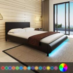 vidaXL Polsterbett Kunstlederbett Doppelbett Bettgestell Bett mehrere Auswahl