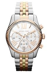 Complete your city-chic look with Michael Kors' Bradshaw Chronograph two-tone steel watch. This luxe timepiece has a two-tone steel case, Quartz movement and a silver dial with an eye-catching gold-tone bezel.